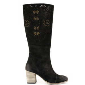 Suede Leather Knee High Boot